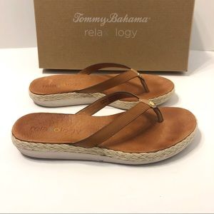 Leather Tommy Bahama Relaxology Sandals, Size 7